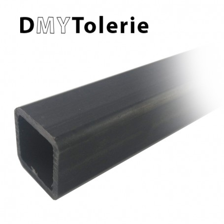 Tube carré acier 40 x 40 x 3 mm - Longueur 1 mètre