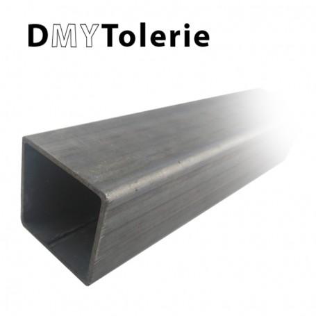 Tube carré acier sendzimir  (nom commun : Galva) 100 x 100 x 2 mm -Longueur de 2 mètres