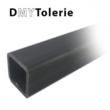 Tube carré acier 20 x 20 x 2 mm - Longueur 3 mètres