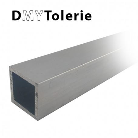 Tube carré aluminium 20 x 20 x 2 mm - Longueur 1 mètre - Découpe sur mesure offerte