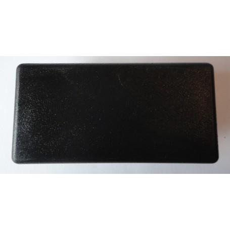 Embout rectangulaire à ailettes 30 x 20 plastique noir