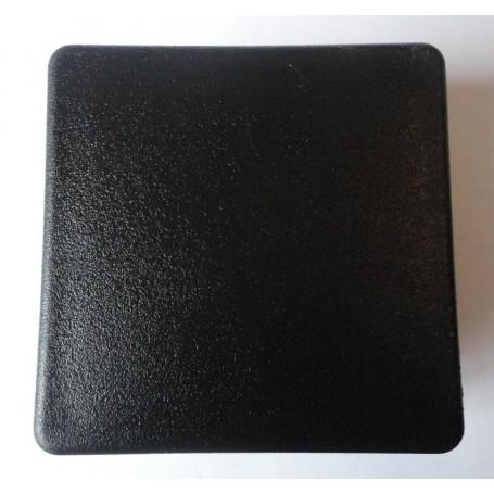 Embout carré à ailettes 30 x 30 plastique noir