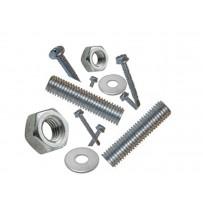 Vis pour tôle en acier, en aluminium, vis autoperceuse tête fraisée, cylindrique, hexagonale, tige filetée, rondelle en acier